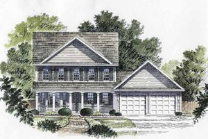 Dream House Plan - Classical Exterior - Front Elevation Plan #316-130