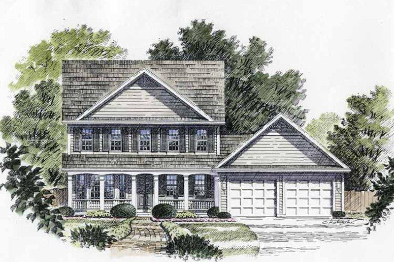 Classical Exterior - Front Elevation Plan #316-130 - Houseplans.com