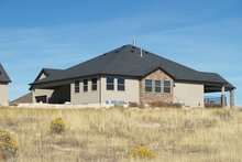 Architectural House Design - Ranch Exterior - Rear Elevation Plan #1060-21
