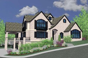 Country Exterior - Front Elevation Plan #509-398