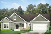 Ranch Style House Plan - 3 Beds 2 Baths 1571 Sq/Ft Plan #1010-137 Exterior - Front Elevation
