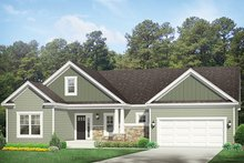 Dream House Plan - Ranch Exterior - Front Elevation Plan #1010-137