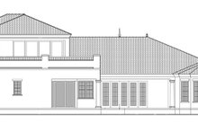 Mediterranean Exterior - Rear Elevation Plan #1058-84