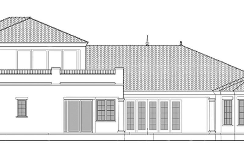 Mediterranean Exterior - Rear Elevation Plan #1058-84 - Houseplans.com