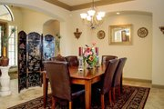 European Style House Plan - 4 Beds 4 Baths 4050 Sq/Ft Plan #80-160 Interior - Dining Room