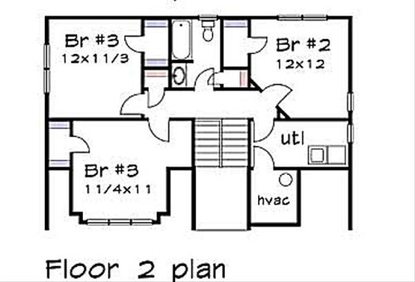 Cottage Floor Plan - Upper Floor Plan Plan #79-230