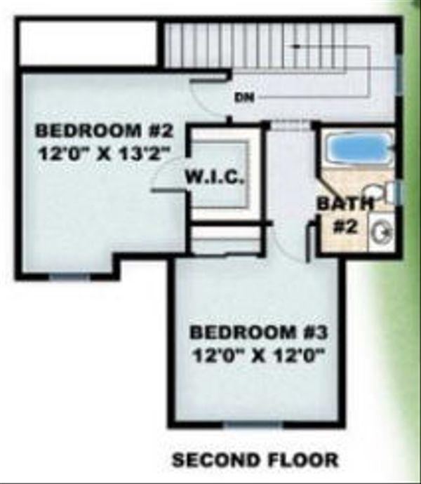 European Floor Plan - Upper Floor Plan Plan #27-347