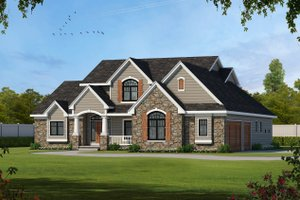 Country Exterior - Front Elevation Plan #20-2133