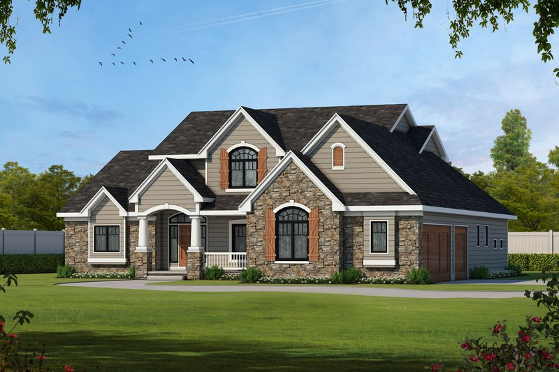 House Plan Design - Country Exterior - Front Elevation Plan #20-2133