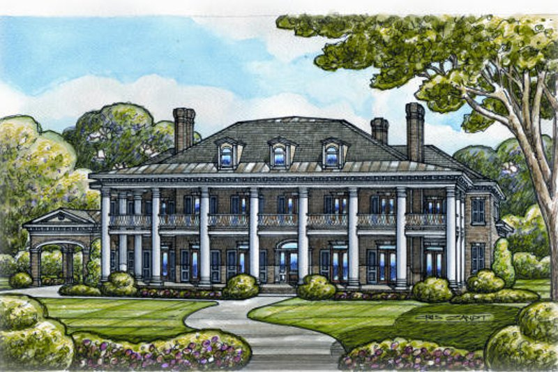 Southern Exterior - Other Elevation Plan #20-2143 - Houseplans.com