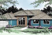 Traditional Style House Plan - 3 Beds 2 Baths 2255 Sq/Ft Plan #89-101 Exterior - Front Elevation