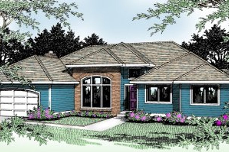 Traditional Exterior - Front Elevation Plan #89-101 - Houseplans.com