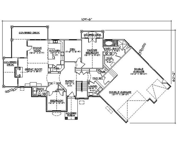 House Plan Design - Ranch Floor Plan - Main Floor Plan #5-282