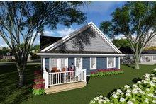 Dream House Plan - Ranch Exterior - Rear Elevation Plan #70-1258
