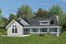 House Plan Design - Farmhouse Exterior - Front Elevation Plan #57-340