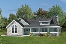 Dream House Plan - Farmhouse Exterior - Front Elevation Plan #57-340