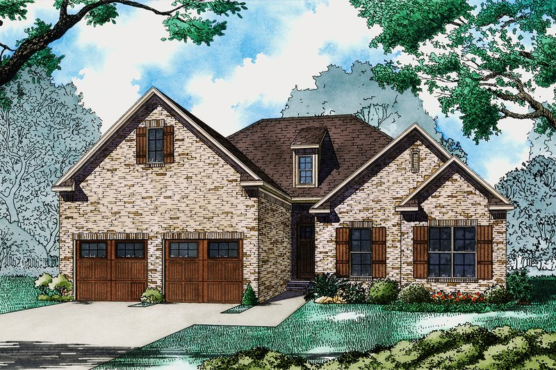 Architectural House Design - Ranch Exterior - Front Elevation Plan #923-93