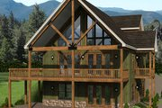Country Style House Plan - 3 Beds 3 Baths 2537 Sq/Ft Plan #932-334 Exterior - Rear Elevation