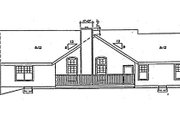 Traditional Style House Plan - 3 Beds 2 Baths 1990 Sq/Ft Plan #312-620 Exterior - Rear Elevation
