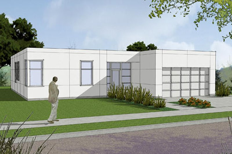 Modern Style House Plan - 3 Beds 2 Baths 1624 Sq/Ft Plan #48-470