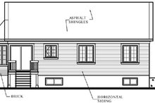 Home Plan - Traditional Exterior - Rear Elevation Plan #23-118