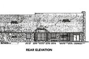Country Style House Plan - 3 Beds 2.5 Baths 2172 Sq/Ft Plan #310-561 Exterior - Rear Elevation