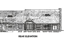 House Plan Design - Country Exterior - Rear Elevation Plan #310-561