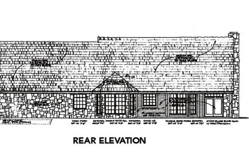Country Exterior - Rear Elevation Plan #310-561 - Houseplans.com