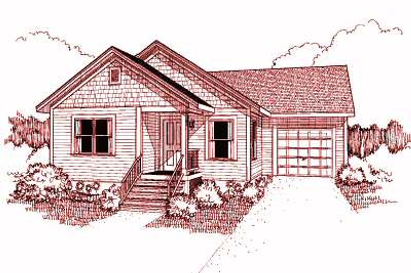 Cottage Style House Plan - 3 Beds 2 Baths 1080 Sq/Ft Plan #79-132