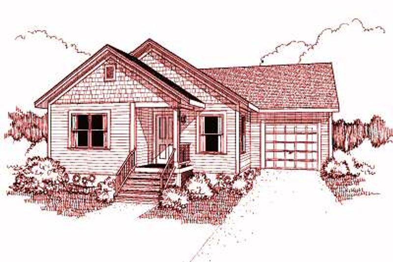 Dream House Plan - Cottage Exterior - Front Elevation Plan #79-132