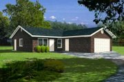 Mediterranean Style House Plan - 3 Beds 2 Baths 1080 Sq/Ft Plan #1-182 Exterior - Front Elevation