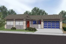 House Plan Design - Traditional Exterior - Front Elevation Plan #569-7