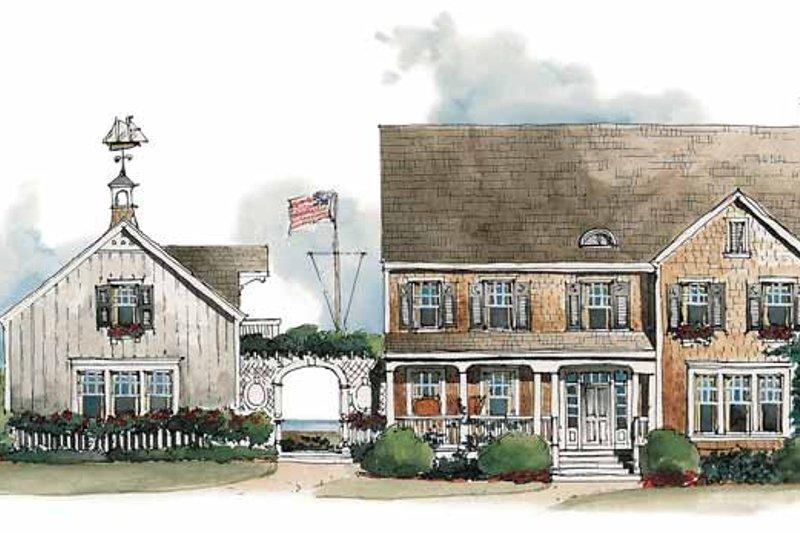 Colonial Exterior - Front Elevation Plan #429-202 - Houseplans.com