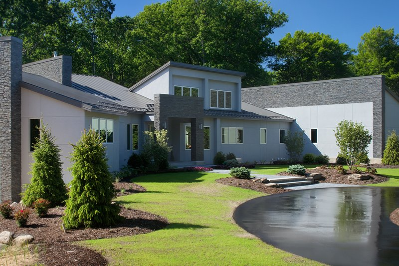 House Plan Design - Contemporary Exterior - Front Elevation Plan #928-255