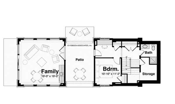 Contemporary Floor Plan - Lower Floor Plan Plan #928-249