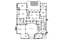 Mediterranean Floor Plan - Main Floor Plan Plan #1058-17