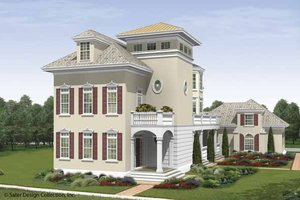 Southern Exterior - Front Elevation Plan #930-407