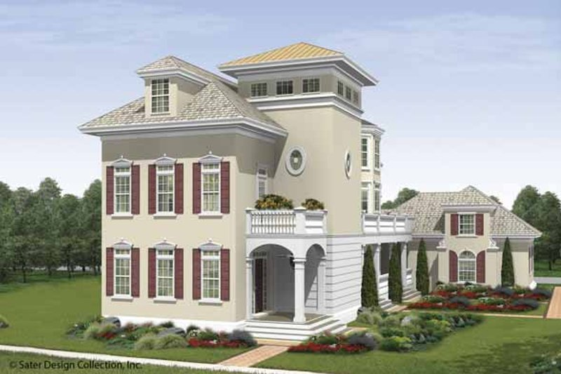 Architectural House Design - Southern Exterior - Front Elevation Plan #930-407