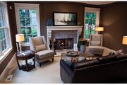 Classical Style House Plan - 3 Beds 3.5 Baths 3281 Sq/Ft Plan #928-240 Interior - Family Room
