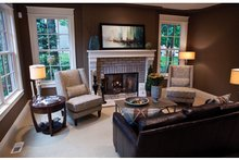Classical Interior - Family Room Plan #928-240