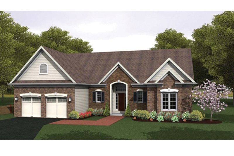 Ranch Exterior - Front Elevation Plan #1010-32 - Houseplans.com