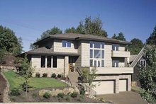 Dream House Plan - Prairie Exterior - Front Elevation Plan #48-857