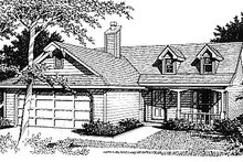House Plan Design - Traditional Exterior - Front Elevation Plan #14-138
