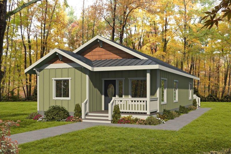 House Plan Design - Bungalow Exterior - Front Elevation Plan #117-909