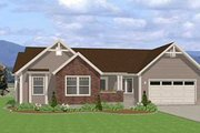Traditional Style House Plan - 3 Beds 2 Baths 1490 Sq/Ft Plan #401-101 Exterior - Front Elevation