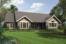 Architectural House Design - Craftsman Exterior - Rear Elevation Plan #48-897