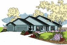 House Plan Design - Contemporary Exterior - Front Elevation Plan #60-1018