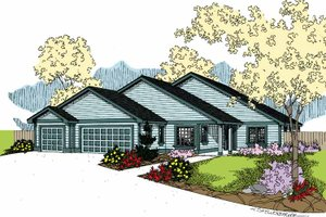 Contemporary Exterior - Front Elevation Plan #60-1018