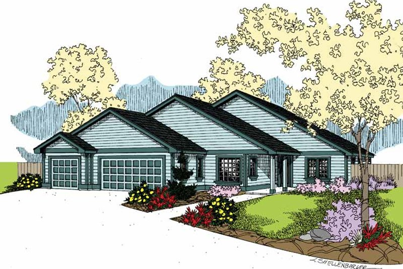 Dream House Plan - Contemporary Exterior - Front Elevation Plan #60-1018