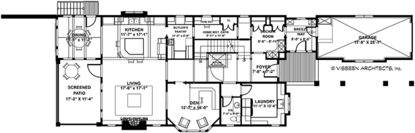 Craftsman Floor Plan - Main Floor Plan #928-282